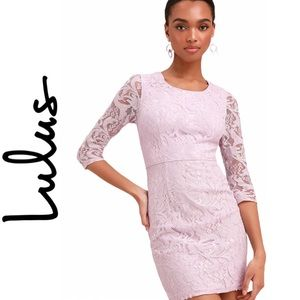 NWT Lulu's All For You Lavender Lace Bodycon Dress